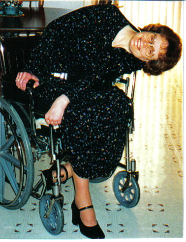 Ema McKinley in wheelchair