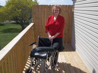 Ema McKinley with Wheelchair